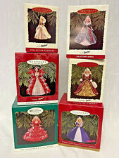 Holiday Barbie Ornament series 1994,1995 ,1996,1997 & millennium 1999;1996 club