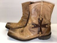 Mark Nason Men's Iron Cross Distressed Brown Boots Style 67179 Men's Size 8