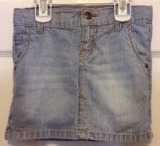 OshKosh B'gosh GIRLS Hickory Stripe denim, jean skirt, size 5, Railroad Stripe