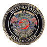 US Marine Corps Gold Plated Coin Collection Art Gift Commemorative Coins BB