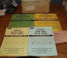 Original July-September 1965 Pontiac Parts Inventory Control Record Master Zone