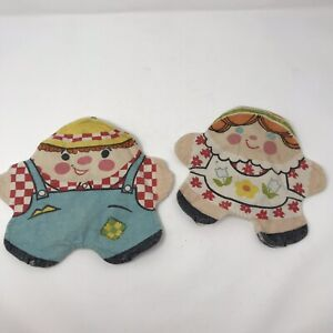 2 Fisher Price Vintage Stuffins Family Finger Puppets