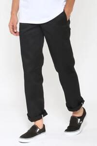 Dickies Slim Straight Fit Work Pants BLACK WP873 New Skateboard Bmx Jeans