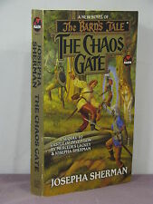 1st,signed by 2(author,artist),Bard's Tale 3:Chaos Gate by Josepha Sherman(1994)