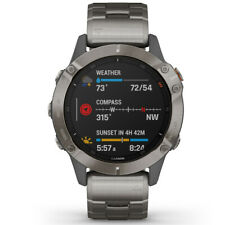 Garmin fenix 6 Sapphire Multisport GPS Smartwatch Titanium Vented Bracelet