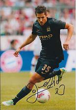 Stevan JOVETIC Signed Autograph 12x8 Photo AFTAL COA Man City Genuine RARE