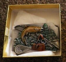 Siskiyou Belt Buckle 1989 Fishing Bad Day Better Than Working Made in The USA
