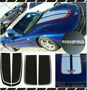 Corvette Chevrolet C5 Racing Stripes Rally Stripes Decal Kit 1997-04 Many Colors
