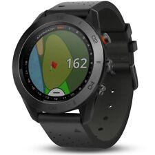 Garmin Approach S60 PREMIUM GPS Watch 2017 - Black Ceramic Bezel w/ Leather