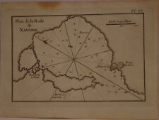 CARTE MARINE XVIII° SIECLE JOSEPH ROUX 1764 RADE DE NAVARIN PYLOS GRECE