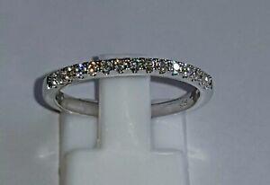 925 STERLING SILVER 18K WHITE GOLD PLATED ETERNITY WEDDING MOISSANITE DIAMOND...