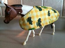 Breyer Horse Blanket Tack - Traditional Breyer horse (yellow john deere print)CM