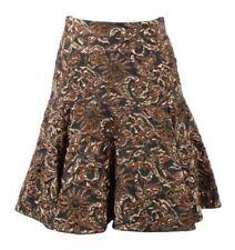 Regular Size Floral Knee-Length A-Line Skirts for Women