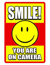 SMILE YOU ON CAMERA SIGN DURABLE ALUMINUM NO RUST FULL COLOR CUSTOM METAL SIGN.