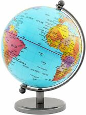 BRUBAKER Political World Globe - Office Decoration - 7.5 Inches - Light Blue