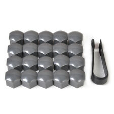 20pcs Wheel Lug Nut Center Cover Caps + Removal Tool for VW Audi Skoda Seat Gray