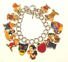 Snow White Seven Dwarfs Bracelet Poison Apple Witch Grumpy Dopey Charms Adult