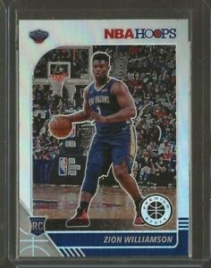 2019-20 Hoops Premium Stock Zion Williamson Rc Silver Prizm #258 Pelicans Rookie