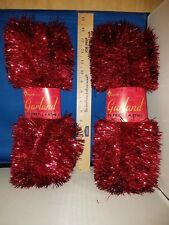 Garland Red Tinsel Set of 2 15 Ft each 23583 264
