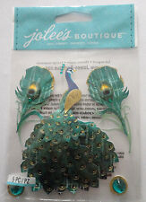 Peacock Scrapbook Sticker Sheet