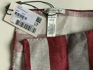 NWT Suitsupply Pocket Square Stripe Pattern Burgundy (PS19121)