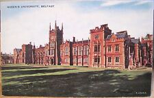 Irish Postcard QUEEN'S UNIVERSITY College Belfast Northern Ireland Valesque S