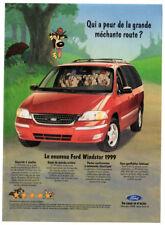 1999 FORD Windstar Vintage Original Print AD - Red mini van 3 little pigs comic