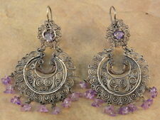 & Amethyst Frida Earrings Mexican Mexico Sterling Silver