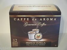 Lenier's French Vanilla 12 Single Serve K-Cups Free Shipping OK for 2.0