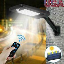 60 LED Solar Dimmable Wall Street Light PIR Motion Sensor Outdoor Garden Lamp US