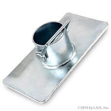 New Trailer Jack Foot Plate With Pin Base for A-Frame Boat RV Camper Removable