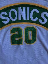 Men's Vintage 1990s Gary Payton 20 Sewn NBA Seattle SuperSonics O.G Jersey Sz-L