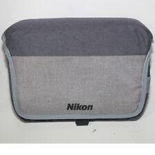 Borsa Nikon per Reflex fotocamera originale tracolla grigia 30x20x10 cm.