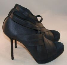 YSL YVES SAINT LAURENT Black Booties Size US 7.5 / 37.5 ITALY