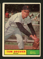 Tom Brewer #434 signed autograph auto 1961 Topps Baseball Trading Card