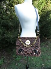 "Womens leopard print medium shoulder- hand bag purse from ""Bakers"""