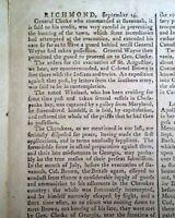 REVOLUTIONARY WAR ENDING EVENTS American Independence 1782 Salem MA Newspaper