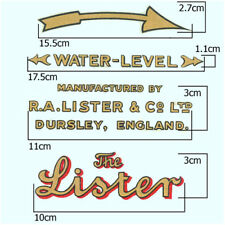 Stationary Engine Transfer - Lister D, DK & F Type Range, Set of 4 Transfers