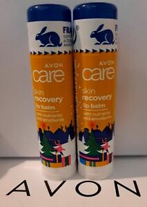 2 x Avon Care Skin Recovery Lip Balms with nutrients & emollients - Sealed