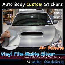 Dull Polish Silver Vinyl Wrap Car Film Stickers Air Release Sheet 1.51M x 30CM