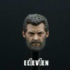Eleven 1/6 Scale Logan Head Sculpt For Hot Toys Wolverine Figure Body