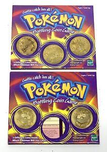 Vtg 1999 Hasbro Pokemon Battling Coin Game, Staryu Fearow Gloom Weepinbell Arbok