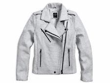 Harley Davidson Ladies' Crackle Lambskin Leather Jacket, White - Sm - 97160-16VW