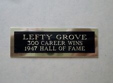 """Lefty Grove Nameplate For A Baseball Ball Cube Square Or Card Plaque 1"""" X 3"""""""