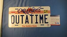 MICHAEL J FOX SIGNED BACK TO THE FUTURE REPLICA LICENSE PLATE PSA DNA COA