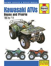 2351 Haynes Kawasaki Bayou & Prairie ATVs (1986 - 2011) Workshop Manual