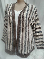 CROSSROADS earth tone Eyelash SOFT stretchy LONG cadi cardigan Jumper XL 18 NEW