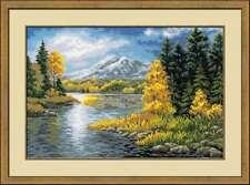 """/""""Lago de montaña/"""" Puntada cruzada contada Kit Riolis 1397"""
