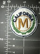 California CA Cali SoCal NoCal Letter M Patch Crest Circle Badge Initial State