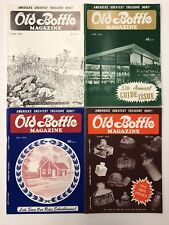 Vintage Old Bottle Magazine May - August 1972 Lot of 4 - FREE SHIP - Insulators